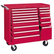 "Kennedy® 315XR 39"" 15-Drawer Roller Cabinet - Red"