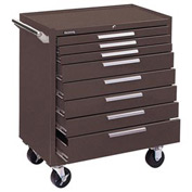 "Kennedy® 348XB 34"" 8-Drawer Roller Cabinet w/ Ball Bearing Slides - Brown"