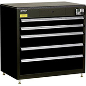 "Kennedy eKentrol Modular Drawer Cab w/Ind Drw Lock 39115EKBK - 5 Drawer 39-1/4""x24""x36"" Black"