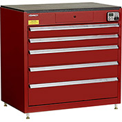 "Kennedy eKentrol Modular Drawer Cab w/Ind Drw Lock 39115EKR - 5 Drawer 39-1/4""x24""x36"" Red"