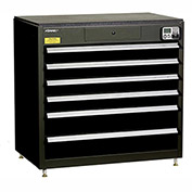 "Kennedy eKentrol Modular Drawer Cab w/Ind Drw Lock 39116EKBK - 6 Drawer 39-1/4""x24""x36"" Black"