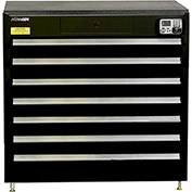 "Kennedy eKentrol Modular Drawer Cab w/Ind Drw Lock 39117EKBK - 7 Drawer 39-1/4""x24""x36"" Black"