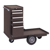 "Kennedy® 435XB 43"" 5-Drawer Versa-Cart w/ Ball Bearing Slides - Brown"