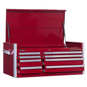 "Kennedy® 46"" 8-Drawer Top Chest - Burgundy"