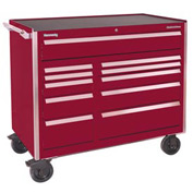 "Kennedy® 46"" 11-Drawer Roller Cabinet - Burgundy"