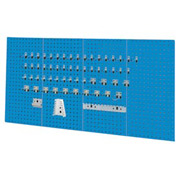 Kennedy Manufacturing, 50004UB, 4-Panel Square Hole Set w/ 60-Piece Toolholder Set - Blue