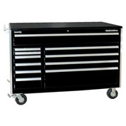 "Kennedy® 60"" 11-Drawer Roller Cabinet - Black"