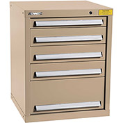 "Kennedy HDS Modular Drawer Cabinet 7121TX - Compact 5 Drawer 25""W x 24""D x 32 Tan"