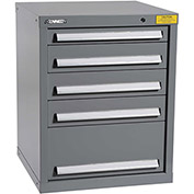 "Kennedy HDS Modular Drawer Cabinet 7121UGY - Compact 5 Drawer 25""W x 24""D x 32 Gray"