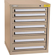 "Kennedy HDS Modular Drawer Cabinet 7122TX - Compact 7 Drawer 25""W x 24""D x 32 Tan"