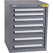 "Kennedy HDS Modular Drawer Cabinet 7122UGY - Compact 7 Drawer 25""W x 24""D x 32 Gray"