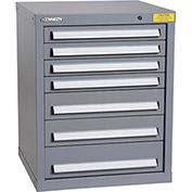 "Kennedy HDS Modular Drawer Cabinet 7123UGY - Compact 7 Drawer 25""W x 24""D x 32 Gray"