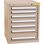 "Kennedy HDS Modular Drawer Cabinet 7124TX - Compact 7 Drawer 25""W x 24""D x 32 Tan"