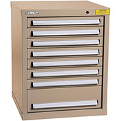 "Kennedy HDS Modular Drawer Cabinet 7125TX - Compact 8 Drawer 25""W x 24""D x 32 Tan"
