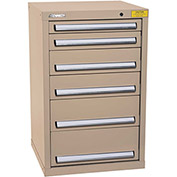 "Kennedy HDS Modular Drawer Cabinet 7126TX - Compact 6 Drawer 25""W x 24""D x 40 Tan"