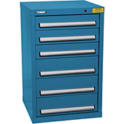 "Kennedy HDS Modular Drawer Cabinet 7127UB - Compact 6 Drawer 25""W x 24""D x 40 Blue"