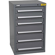 "Kennedy HDS Modular Drawer Cabinet 7127UGY - Compact 6 Drawer 25""W x 24""D x 40 Gray"