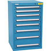 "Kennedy HDS Modular Drawer Cabinet 7128UB - Compact 8 Drawer 25""W x 24""D x 40 Blue"