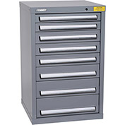 "Kennedy HDS Modular Drawer Cabinet 7128UGY - Compact 8 Drawer 25""W x 24""D x 40 Gray"