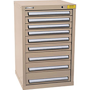 "Kennedy HDS Modular Drawer Cabinet 7129TX - Compact 9 Drawer 25""W x 24""D x 40 Tan"