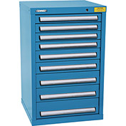 "Kennedy HDS Modular Drawer Cabinet 7129UB - Compact 9 Drawer 25""W x 24""D x 40 Blue"