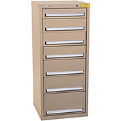 "Kennedy HDS Modular Drawer Cabinet 7131TX - Compact 7 Drawer 25""W x 24""D x 60 Tan"