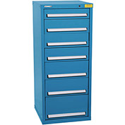 "Kennedy HDS Modular Drawer Cabinet 7131UB - Compact 7 Drawer 25""W x 24""D x 60 Blue"