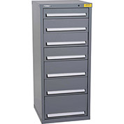 "Kennedy HDS Modular Drawer Cabinet 7131UGY - Compact 7 Drawer 25""W x 24""D x 60 Gray"