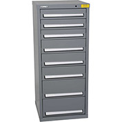 "Kennedy HDS Modular Drawer Cabinet 7132UGY - Compact 8 Drawer 25""W x 24""D x 60 Gray"