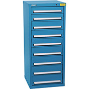 "Kennedy HDS Modular Drawer Cabinet 7133UB - Compact 9 Drawer 25""W x 24""D x 60 Blue"
