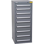 "Kennedy HDS Modular Drawer Cabinet 7133UGY - Compact 9 Drawer 25""W x 24""D x 60 Gray"