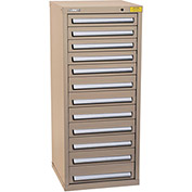 "Kennedy HDS Modular Drawer Cabinet 7134TX - Compact 12 Drawer 25""W x 24""D x 60 Tan"