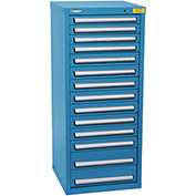 "Kennedy HDS Modular Drawer Cabinet 7135UB - Compact 14 Drawer 25""W x 24""D x 60 Blue"