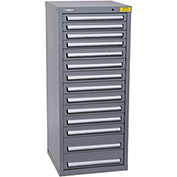 "Kennedy HDS Modular Drawer Cabinet 7135UGY - Compact 14 Drawer 25""W x 24""D x 60 Gray"