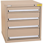 "Kennedy HDS Modular Drawer Cabinet 7321TX - Standard 4 Drawer 31""W x 30""D x 32 Tan"