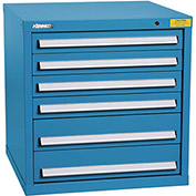 "Kennedy HDS Modular Drawer Cabinet 7322UB - Standard 6 Drawer 31""W x 30""D x 32 Blue"
