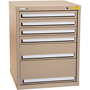 "Kennedy HDS Modular Drawer Cabinet 7325TX - Standard 6 Drawer 31""W x 30""D x 40 Tan"