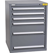 "Kennedy HDS Modular Drawer Cabinet 7325UGY - Standard 6 Drawer 31""W x 30""D x 40 Gray"