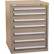 "Kennedy HDS Modular Drawer Cabinet 7326TX - Standard 7 Drawer 31""W x 30""D x 40 Tan"