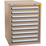 "Kennedy HDS Modular Drawer Cabinet 7327TX - Standard 9 Drawer 31""W x 30""D x 40 Tan"
