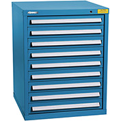 "Kennedy HDS Modular Drawer Cabinet 7327UB - Standard 9 Drawer 31""W x 30""D x 40 Blue"