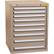 "Kennedy HDS Modular Drawer Cabinet 7328TX - Standard 9 Drawer 31""W x 30""D x 40 Tan"