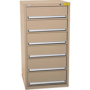 "Kennedy HDS Modular Drawer Cabinet 7331TX - Standard 6 Drawer 31""W x 30""D x 60 Tan"