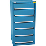 "Kennedy HDS Modular Drawer Cabinet 7331UB - Standard 6 Drawer 31""W x 30""D x 60 Blue"