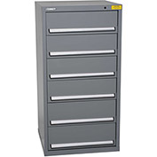 "Kennedy HDS Modular Drawer Cabinet 7331UGY - Standard 6 Drawer 31""W x 30""D x 60 Gray"