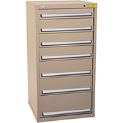 "Kennedy HDS Modular Drawer Cabinet 7332TX - Standard 7 Drawer 31""W x 30""D x 60 Tan"
