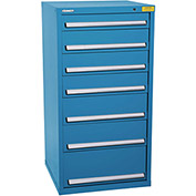 "Kennedy HDS Modular Drawer Cabinet 7332UB - Standard 7 Drawer 31""W x 30""D x 60 Blue"