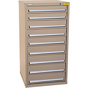 "Kennedy HDS Modular Drawer Cabinet 7333TX - Standard 9 Drawer 31""W x 30""D x 60 Tan"