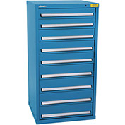 "Kennedy HDS Modular Drawer Cabinet 7333UB - Standard 9 Drawer 31""W x 30""D x 60 Blue"