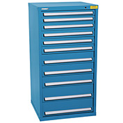"Kennedy HDS Modular Drawer Cabinet 7334UB - Standard 11 Drawer 31""W x 30""D x 60 Blue"